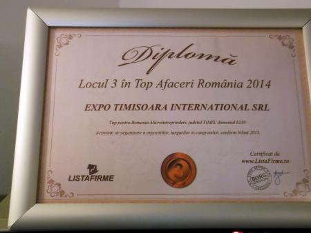 Diploma Expo Timișoara International 2014
